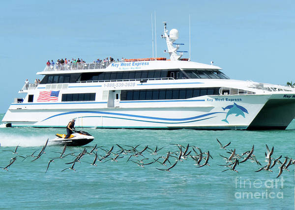 Photograph - Coming Into Port, Key West, Florida  -80237 by John Bald