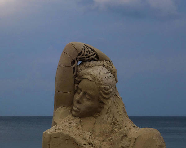Photograph - Coming Into View Revere Beach Sand Sculptures Revere Ma by Toby McGuire