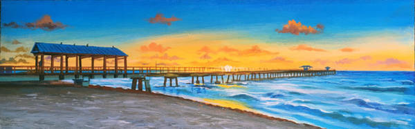 Wall Art - Painting - Commercial Pier Lauderdale By The Sea by Robert Korhonen
