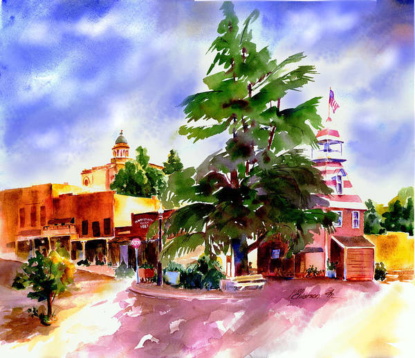 Painting - Commercial Street, Old Town Auburn by Joan Chlarson