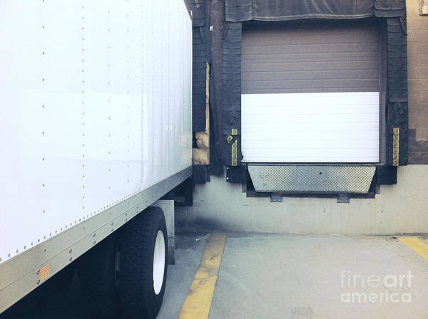 Photograph - Commercial Truck In Loading Dock by Bryan Mullennix