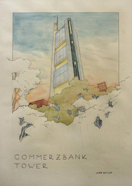 Poster Painting - Commerzbank Frankfurt by Juan  Bosco