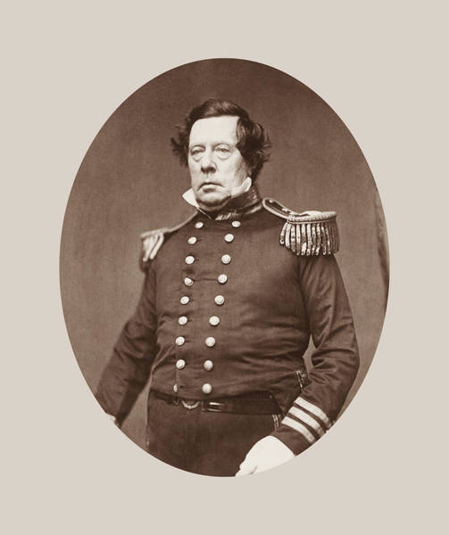 1812 Photograph - Commodore Matthew Perry Portrait  by War Is Hell Store