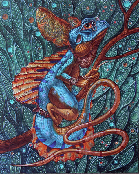 Painting - Common Basilisk by Victor Molev