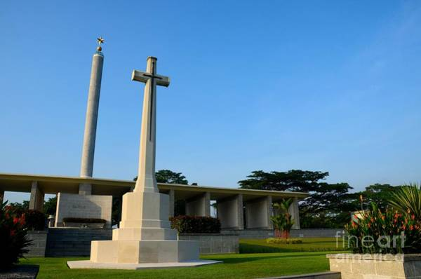Photograph - Commonwealth War Graves Commission Kranji Memorial Cemetery Monument Singapore by Imran Ahmed