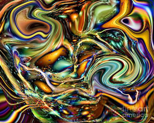 Wall Art - Digital Art - Commotion In The Motion Vii by Jim Fitzpatrick