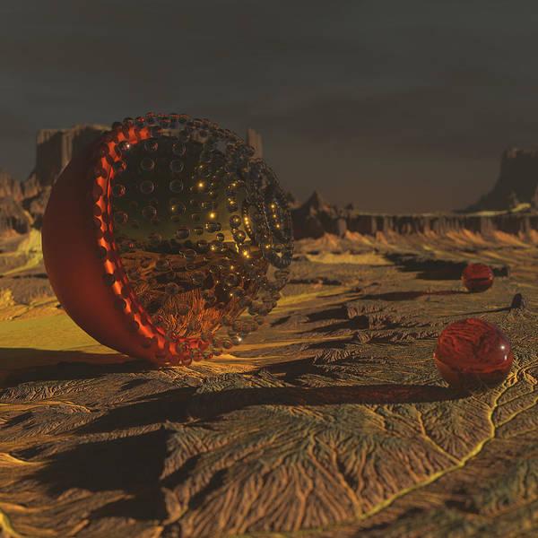 Scifi Digital Art - Communication by Spacefrog Designs