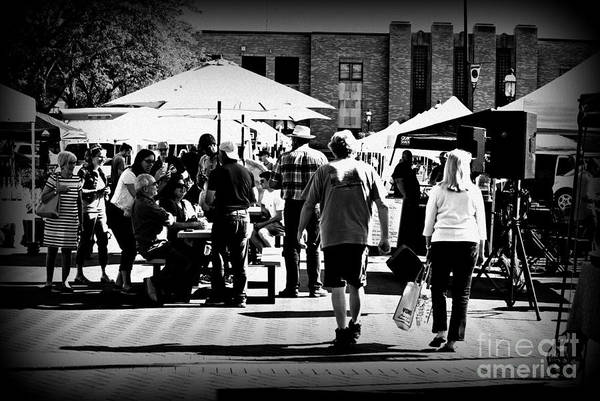 Photograph - Community At The Farmers Market by Frank J Casella