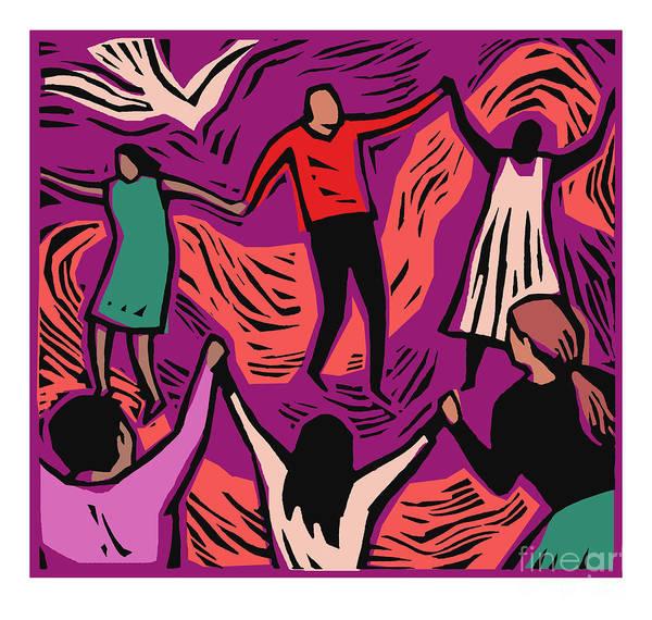 Painting - Community - Jlcmu by Julie Lonneman