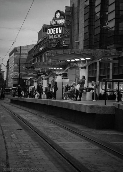 Photograph - Commuters At Tram Station by Beverly Cash