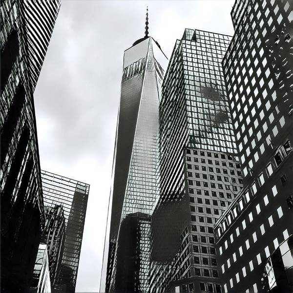 Digital Art - Commuters' View Of 1 World Trade Center by Gina Callaghan