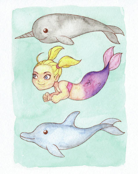 Inking Painting - Competition Mermaid - Mermay 2018 by Armando Elizondo
