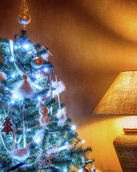 Photograph - Complementary Christmas Tree by Wim Lanclus