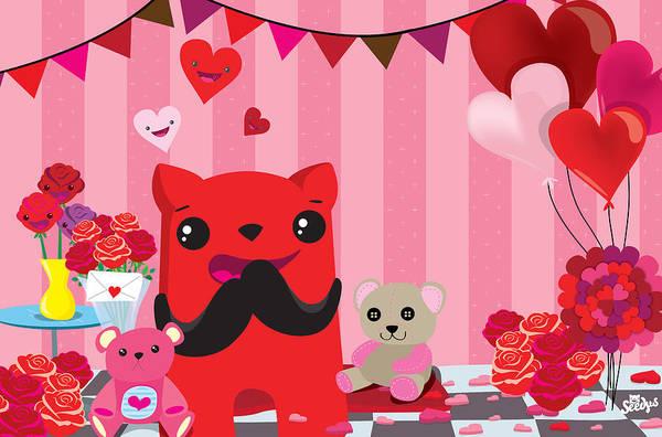 Valentine Digital Art - Completly  In Love by Seedys