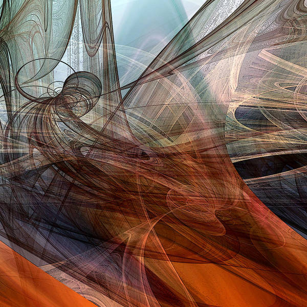 Gestural Digital Art - Complex Decisions by Ruth Palmer