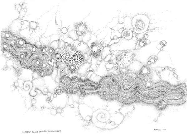 Drawing - Complex Fluid A Novel Surfactancy by Regina Valluzzi