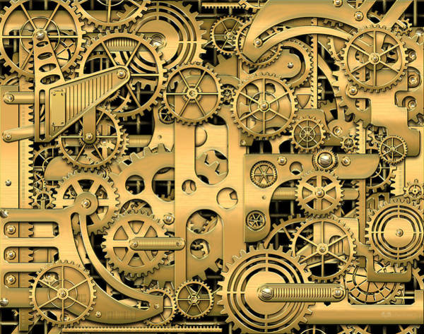 Pop Art Wall Art - Photograph - Complexity And Complications - Clockwork Gold by Serge Averbukh