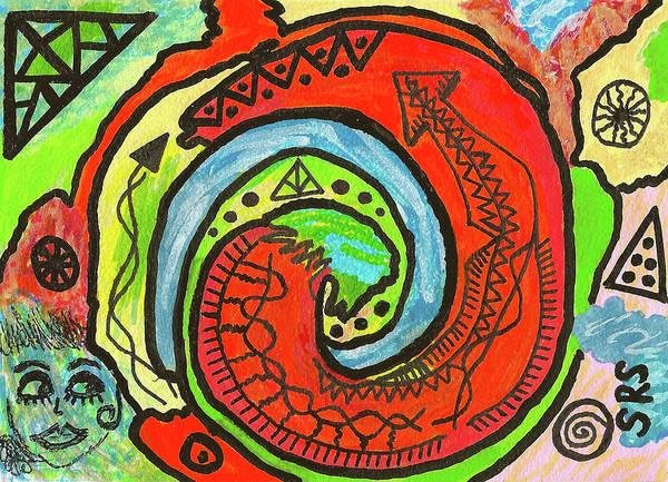 Drawing - Complicated Metamorphosis by Susan Schanerman