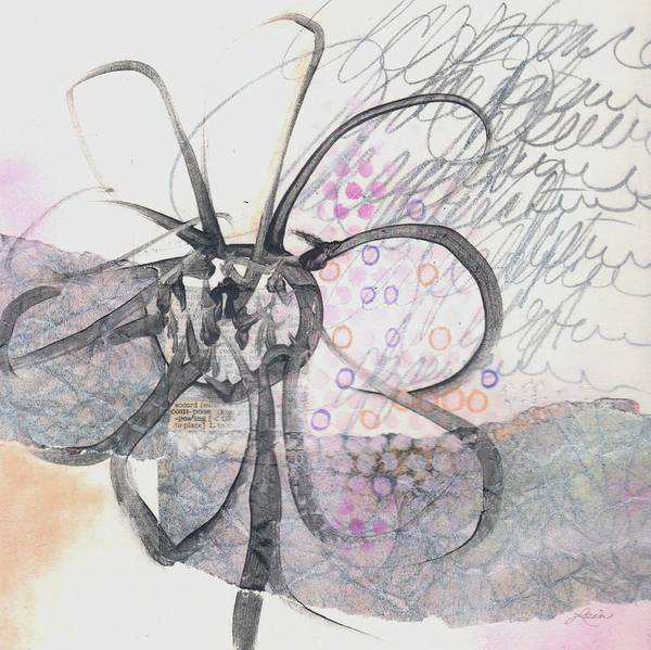 Abstract Flower Mixed Media - Compose Acceptance by Laura  Lein-Svencner