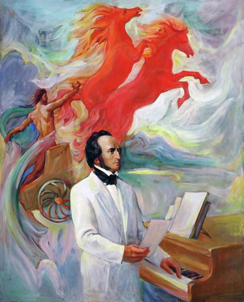 Wall Art - Painting - Composer Felix Mendelssohn by Svitozar Nenyuk