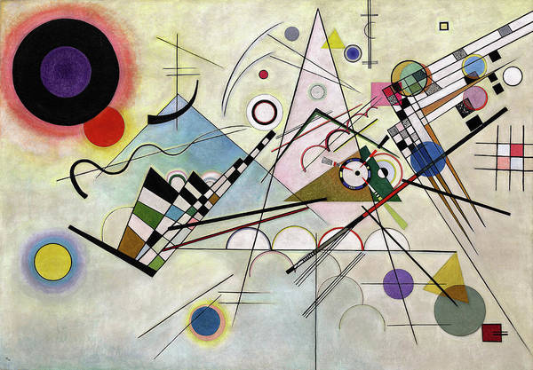 Office Wall Art - Painting - Composition 8 by Wassily Kandinsky