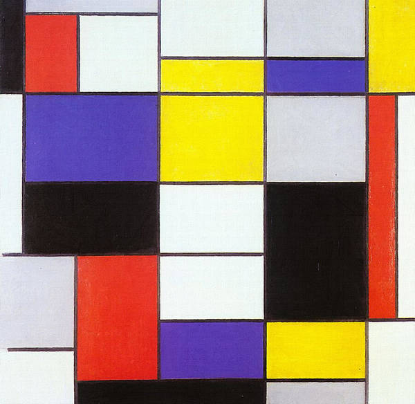 Painting - Composition A by Piet Mondrian