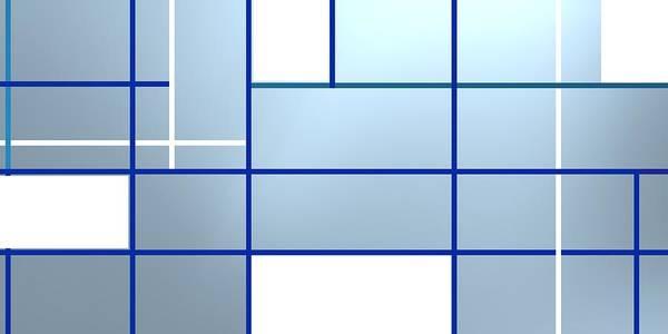 Digital Art - Composition Blue .1 by Alberto RuiZ