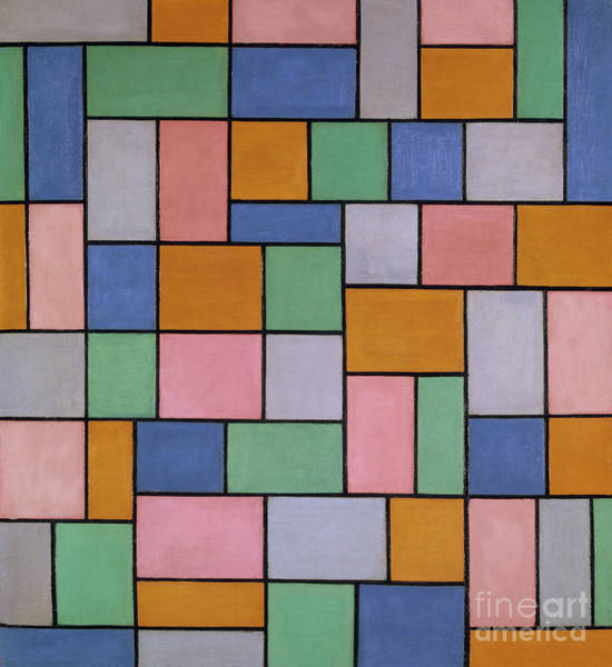 De Stijl Painting - Composition In Dissonances, 1919 by Theo van Doesburg