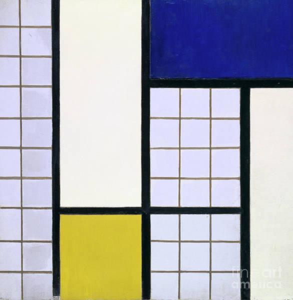De Stijl Painting - Composition In Half Tones by Theo van Doesburg