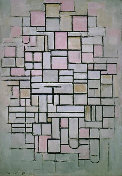 De Stijl Painting - Composition Iv by Piet Mondrian