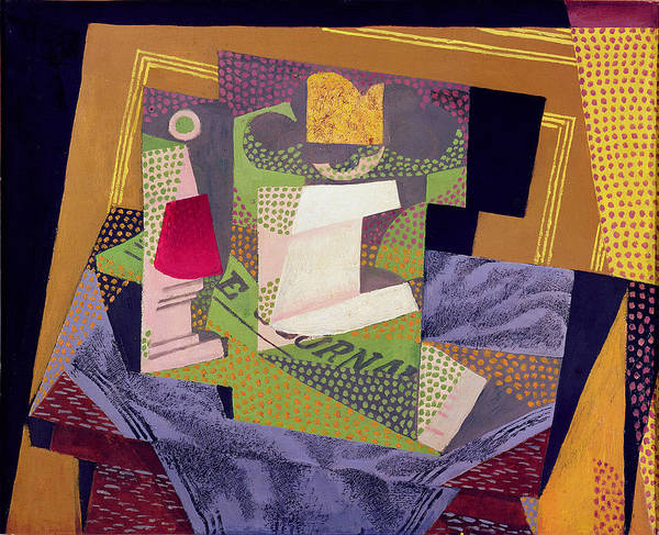 Wall Art - Painting - Composition On A Table by Juan Gris