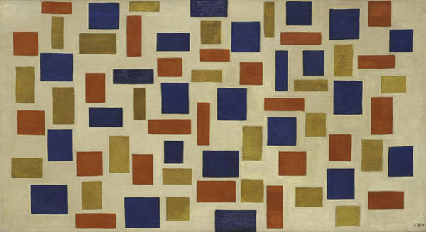 De Stijl Painting - Composition Xi by Theo van Doesburg