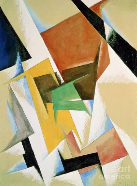 Linear Painting - Compostion 1921 by Lyubov Sergeevna Popova