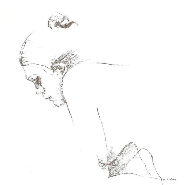 Drawing - Comtemplation by Denise F Fulmer