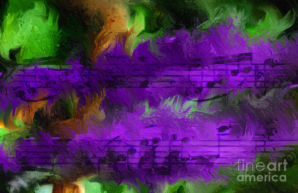Digital Art - Con Viola Fuoco by Lon Chaffin