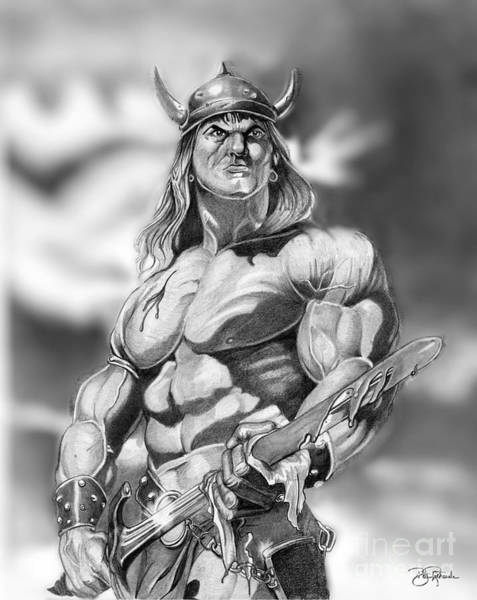 Drawing - Conan by Bill Richards