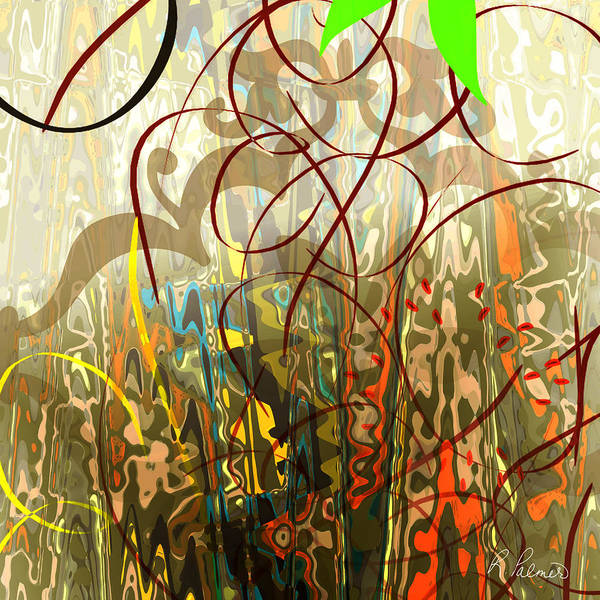 Gestural Digital Art - Concealed Treasure by Ruth Palmer