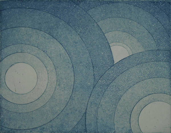 Drawing - Concentric Blue by Erik Paul