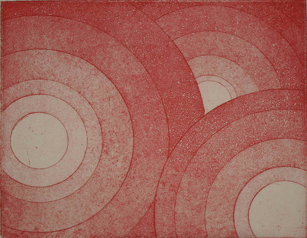 Drawing - Concentric Red by Erik Paul