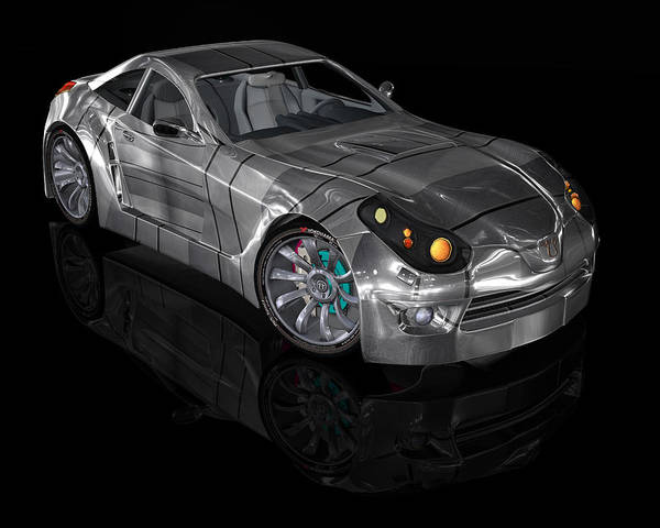 Digital Art - Concept Car Series 01 by Carlos Diaz