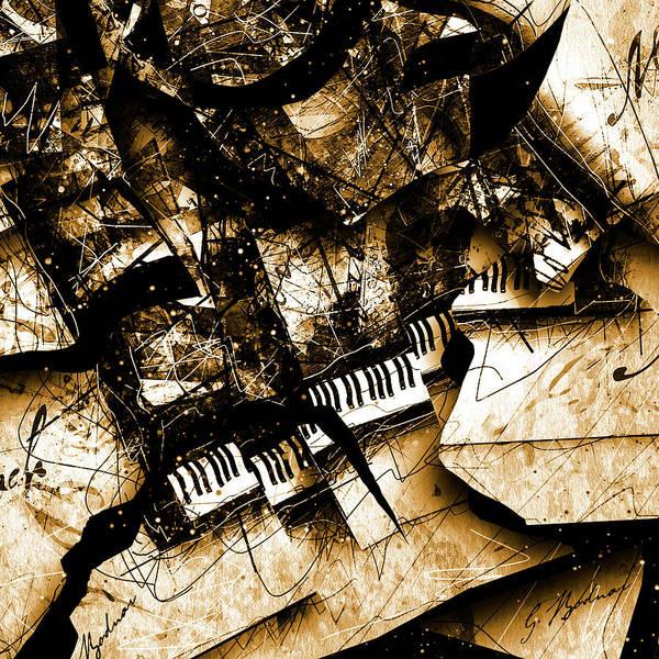Grand Piano Digital Art - Concerto Iv by Gary Bodnar