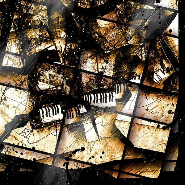 Grand Piano Digital Art - Concerto V by Gary Bodnar