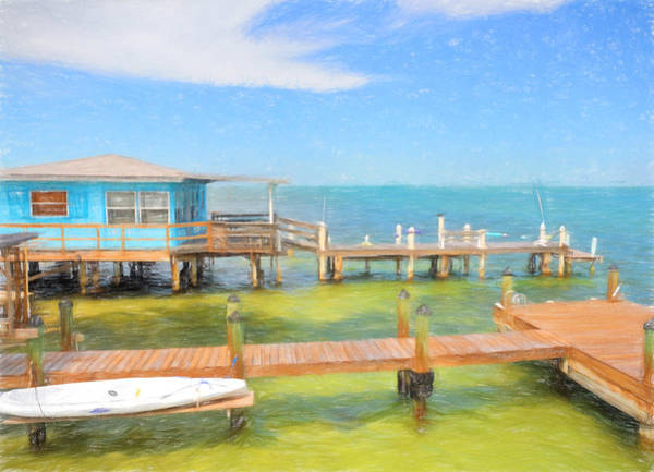 Photograph - Conch Key Blue Cottage 2 by Ginger Wakem