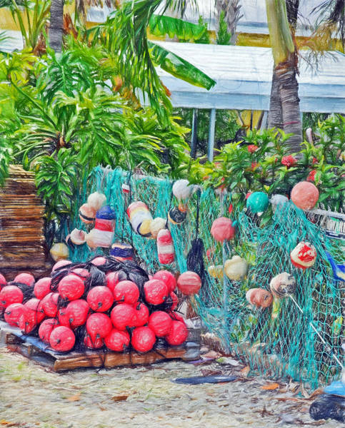 Photograph - Conch Key Buoys And Nets 3 by Ginger Wakem