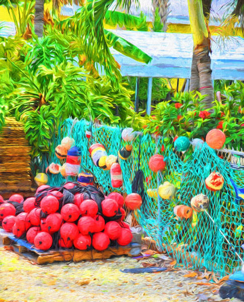 Photograph - Conch Key Buoys And Nets 2 by Ginger Wakem