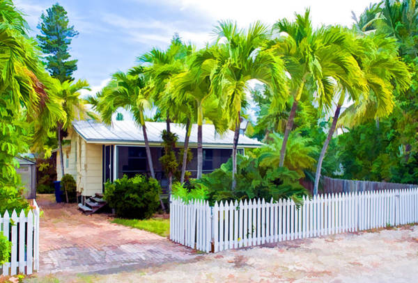 Photograph - Conch Key Cottage With Picket Fence 2 by Ginger Wakem