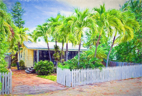 Photograph - Conch Key Cottage With Picket Fence 3 by Ginger Wakem