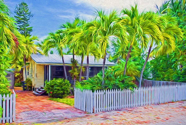 Photograph - Conch Key Cottage With Picket Fence 4 by Ginger Wakem