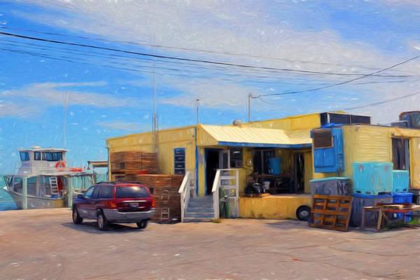 Digital Art - Conch Key Fish House 2 by Ginger Wakem