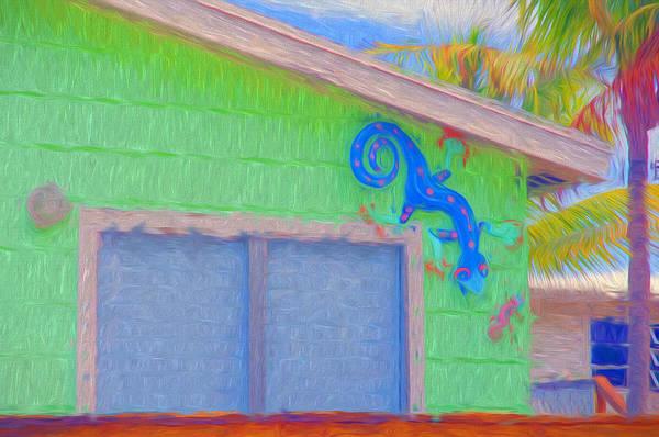 Photograph - Conch Key Lizard Wall Art by Ginger Wakem